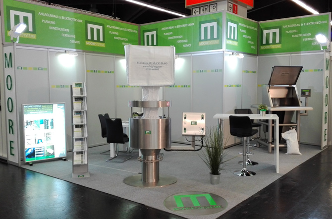 Messestand Powtech